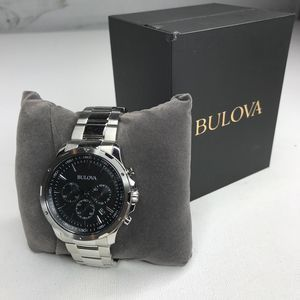 Bulova Chronograph Steel Men's Watch NWT